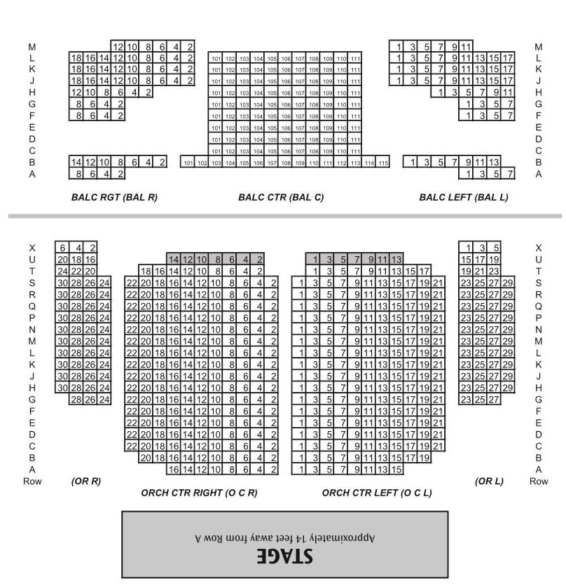 Seat map of englert theater the englert theatre