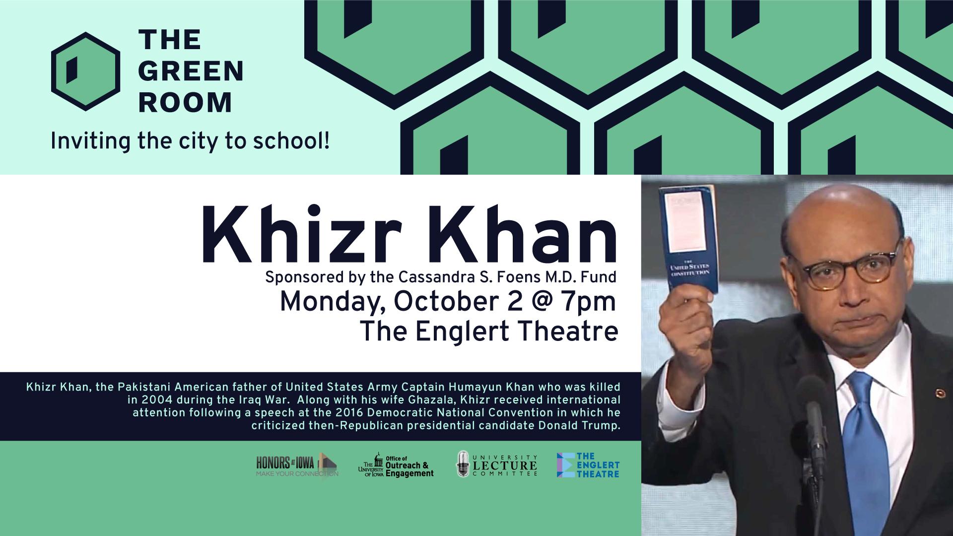 Khizr Khan The Green Room October